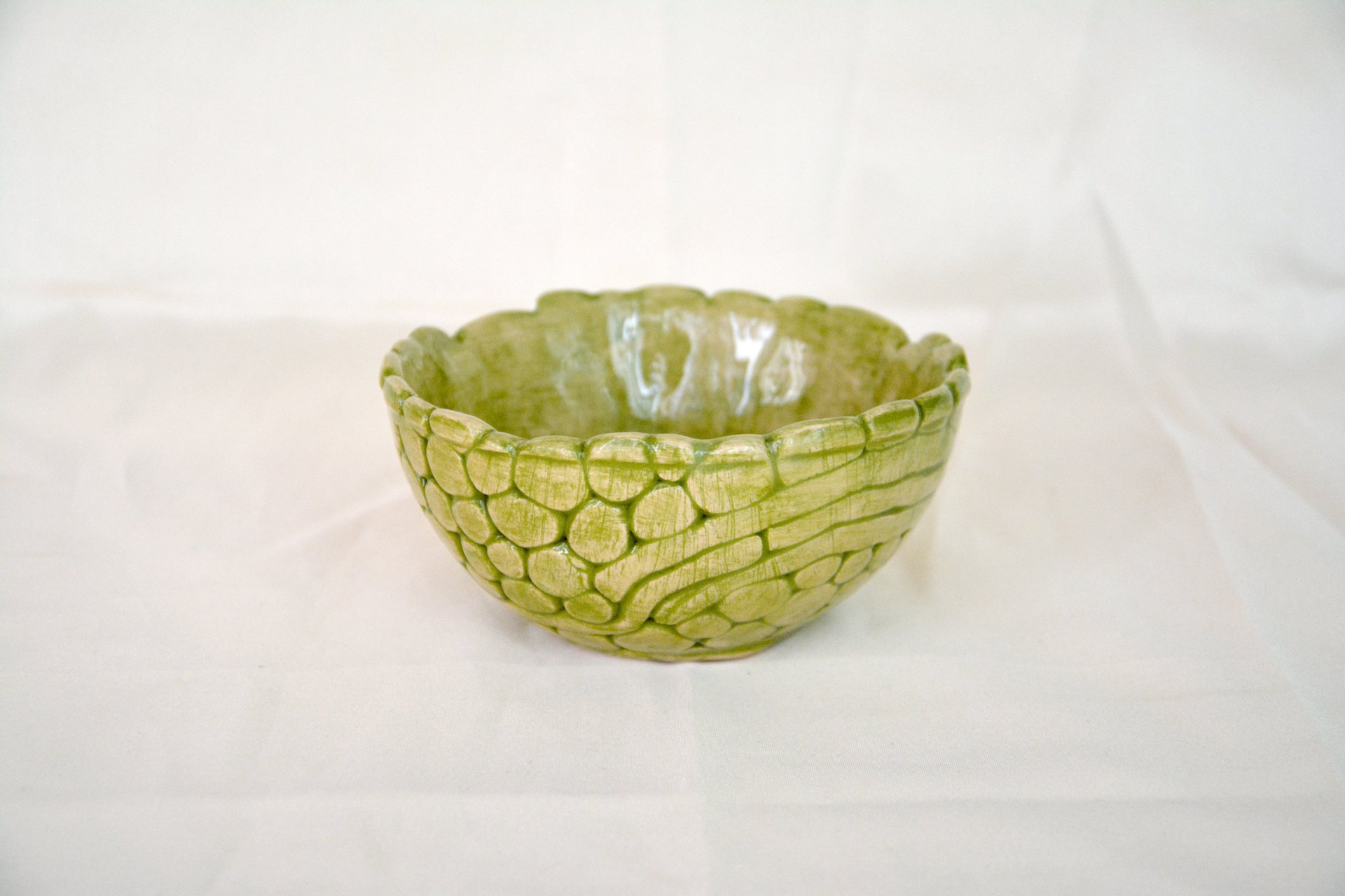 Light Green patina - Pialy and sauceboats, height - 6 cm, diameter - 11.5 cm, photo 4 of 4.