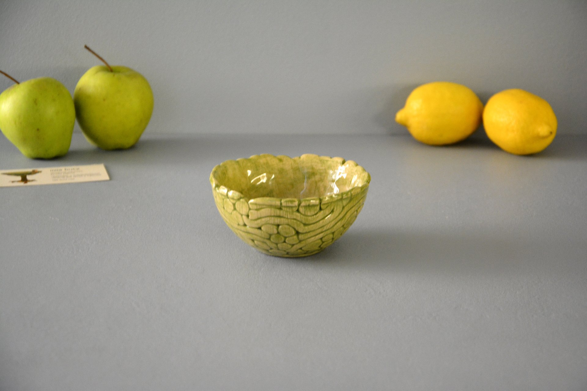 Light Green patina - Pialy and sauceboats, height - 6 cm, diameter - 11.5 cm, photo 3 of 4.