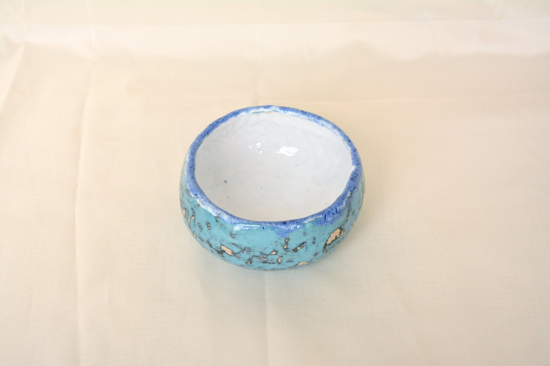 Multilayered blue - Сeramic Plates, diameter - 10 cm, height - 5 cm, photo 2 of 3.