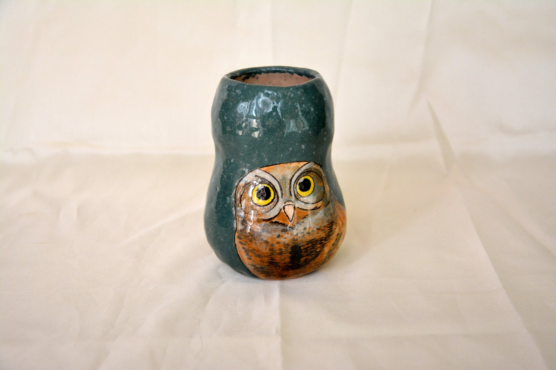 Small Vase or flowers «Sweet Owlet», height - 11 cm. Photo 17.