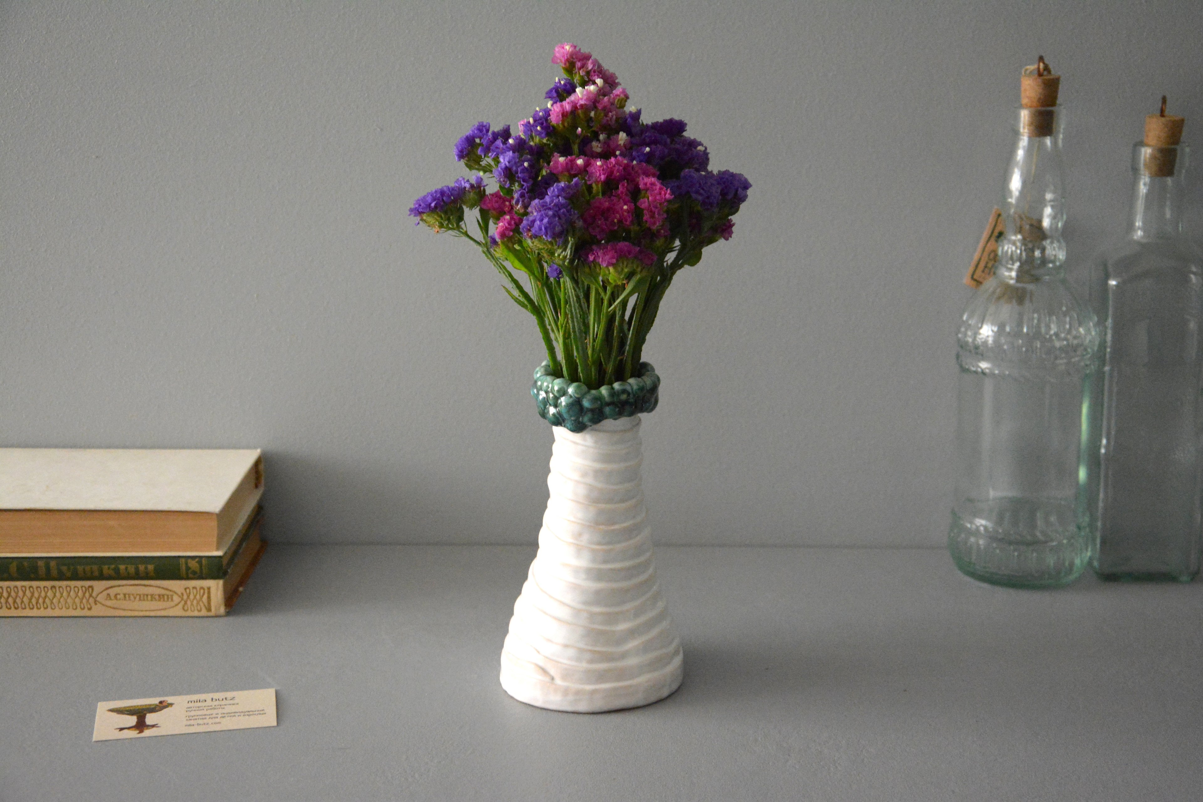 Decorative vase Bundles and balls, height - 17,5 cm, photo 4 of 6. 1209.