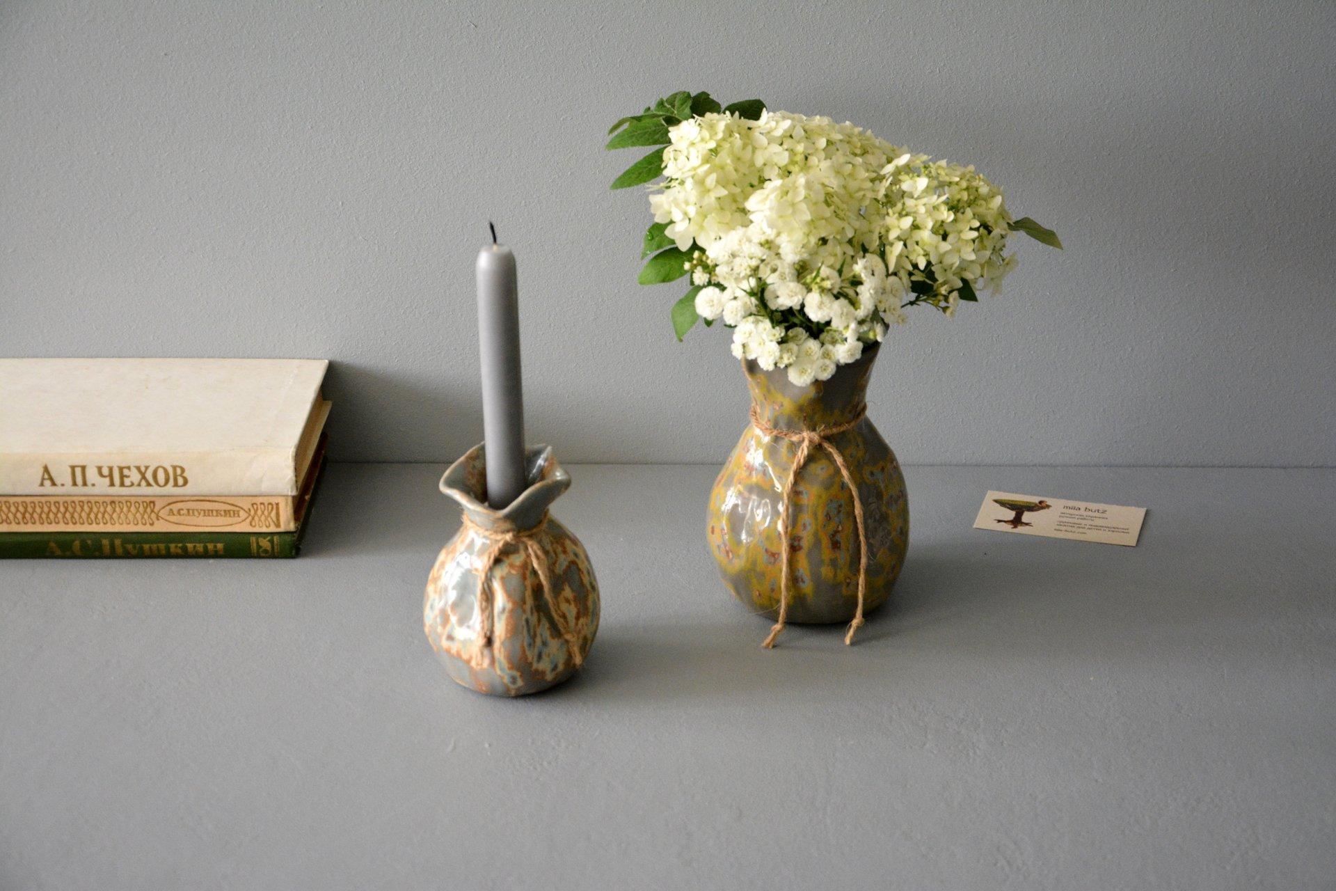 Ceramic Vase The Bagful, Height  12 Cm  Photo