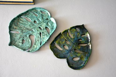 ceramics Leaves of the Monstera - Works from the master class
