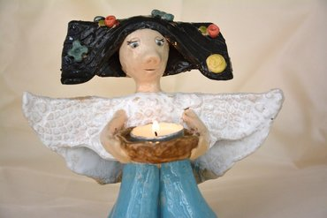 ceramics Candleholder Summer-Angel